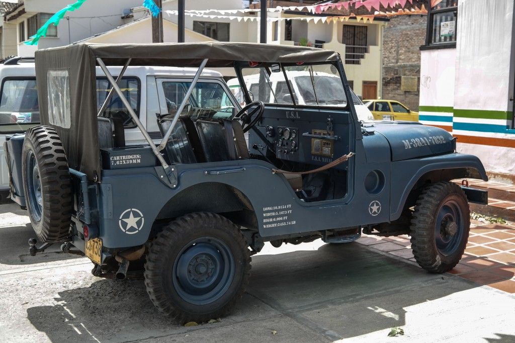 Classic Willy's Jeeps are everywhere in South Colombia! So cool.