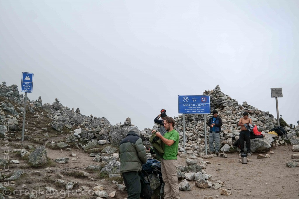 Each of the three signs lists a different elevation for the summit.  Precision and consensus are not common in Peru