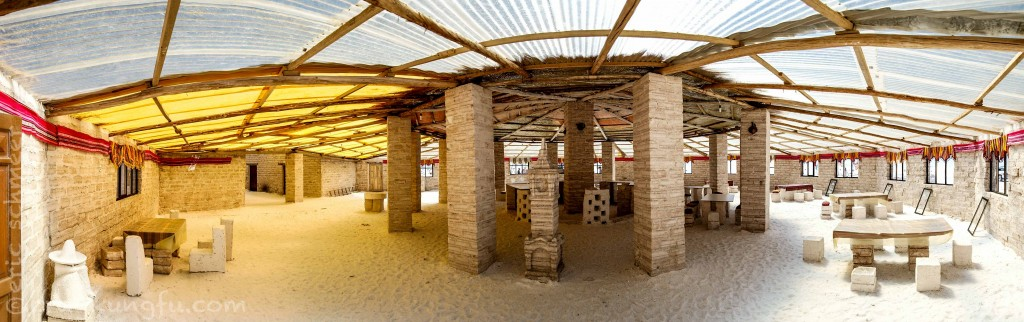 "A ""Salt Hotel"" constructed entirely of salt blocks"
