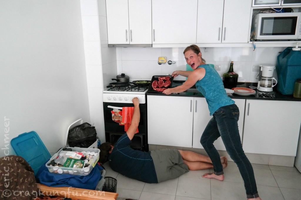 Meet oven prep