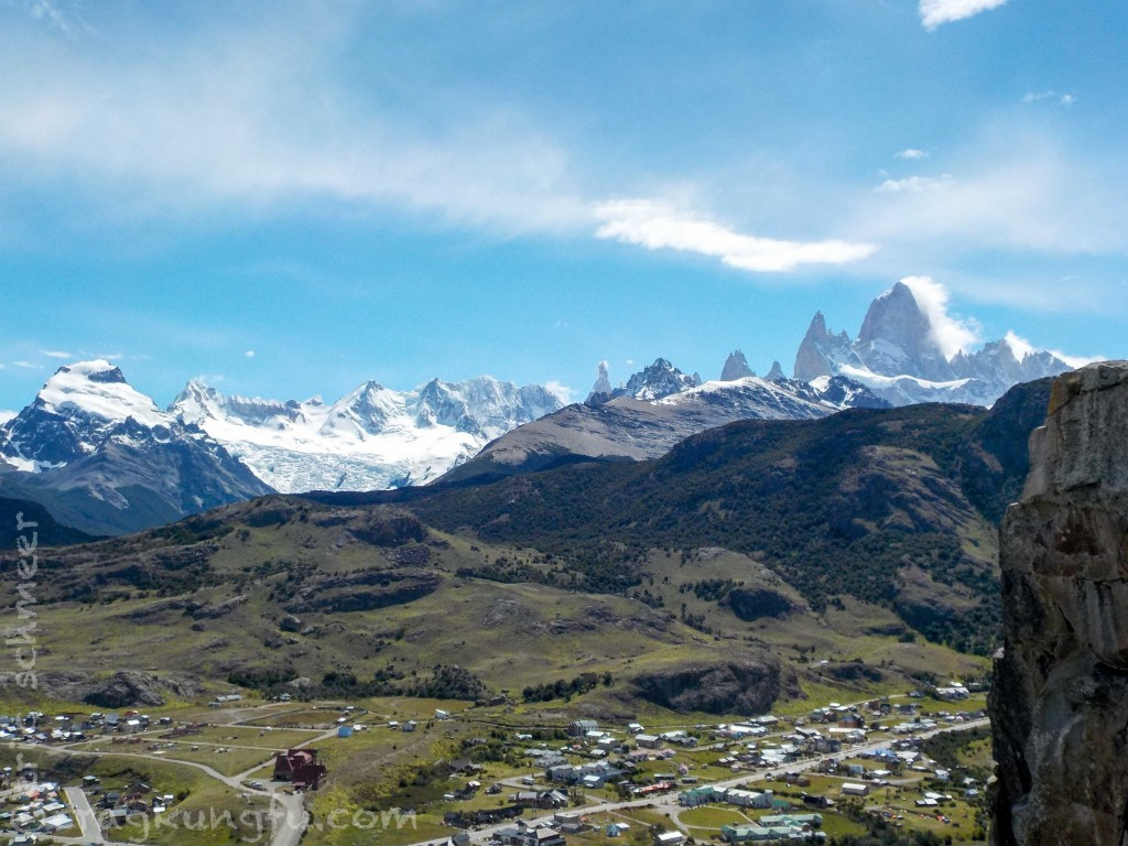 El Chalten with Fitz Roy finally visible!