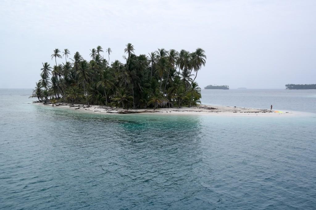 The island we snorkeled around
