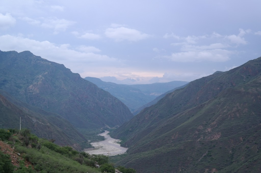Shot on a narrow mountain road while driving!