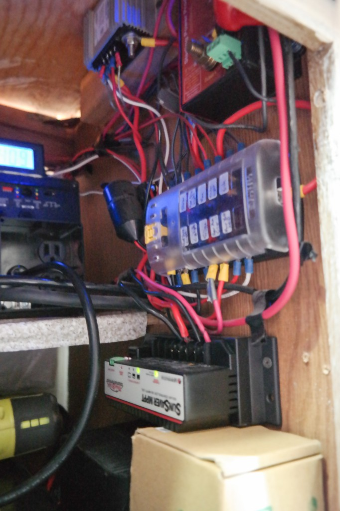Fully fused, labeled electrical system in secure cabinet