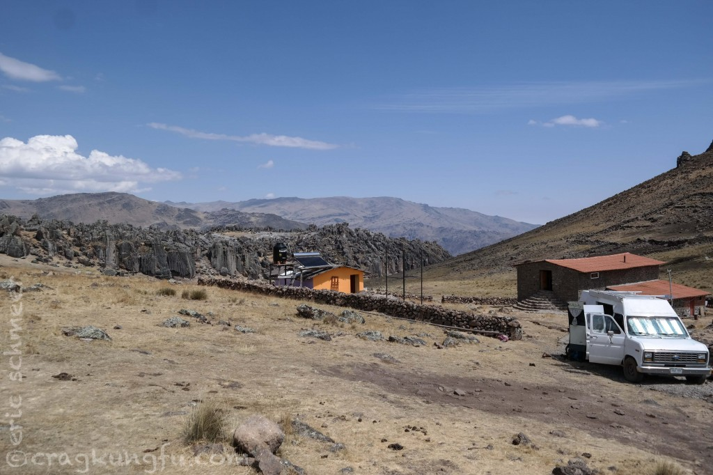 The refugio. Plenty of tent spots, solar shower, lodge with fireplace, kitchen, and dorm beds.