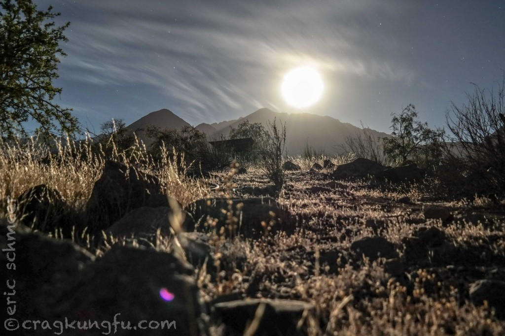 Awesome moonscape that night