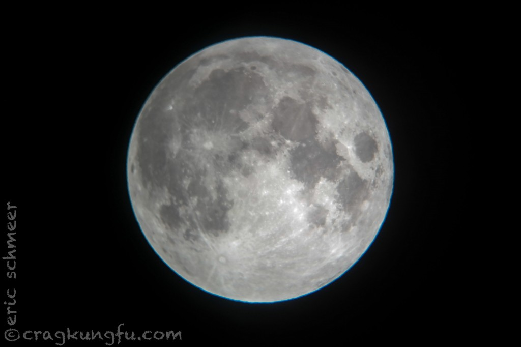Nice shot of the moon taken through an outdoor telescope