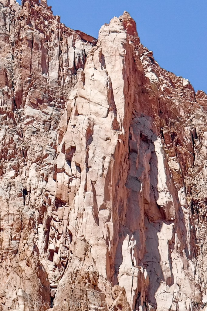 The upper half of the climb